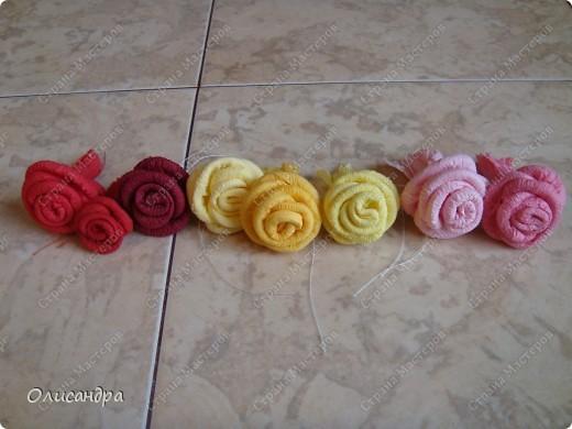 Мастер-класс Поделка изделие Гофротрубочки МК  Крутим розы из салфеток  Салфетки фото 39
