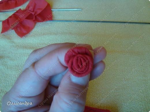 Мастер-класс Поделка изделие Гофротрубочки МК  Крутим розы из салфеток  Салфетки фото 22