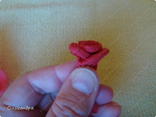 Мастер-класс Поделка изделие Гофротрубочки МК  Крутим розы из салфеток  Салфетки фото 31