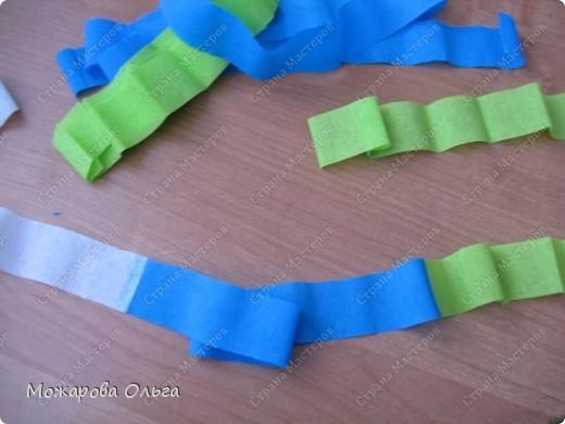 Клоун из гофрированных  спиралек. По такому принципу сделаны ножки и ручки у тигра. http://stranamasterov.ru/node/33597?tid=451%2C1492  фото 6