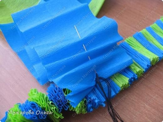 Клоун из гофрированных  спиралек. По такому принципу сделаны ножки и ручки у тигра. http://stranamasterov.ru/node/33597?tid=451%2C1492  фото 13