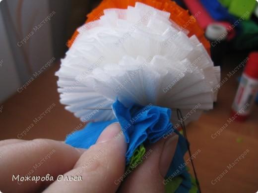 Клоун из гофрированных  спиралек. По такому принципу сделаны ножки и ручки у тигра. http://stranamasterov.ru/node/33597?tid=451%2C1492  фото 19
