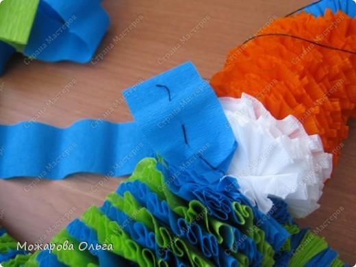 Клоун из гофрированных  спиралек. По такому принципу сделаны ножки и ручки у тигра. http://stranamasterov.ru/node/33597?tid=451%2C1492  фото 20