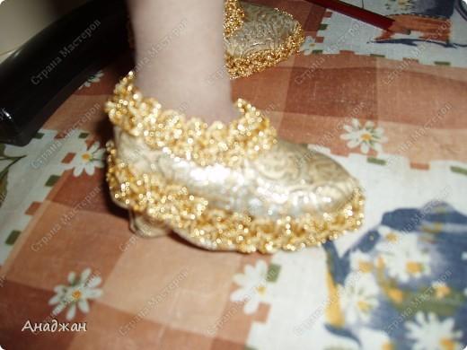 Туфли сделала сразу на ножку куклы. Буду рада, кому пригодися МК. фото 11