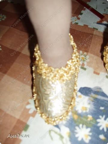 Туфли сделала сразу на ножку куклы. Буду рада, кому пригодися МК. фото 12