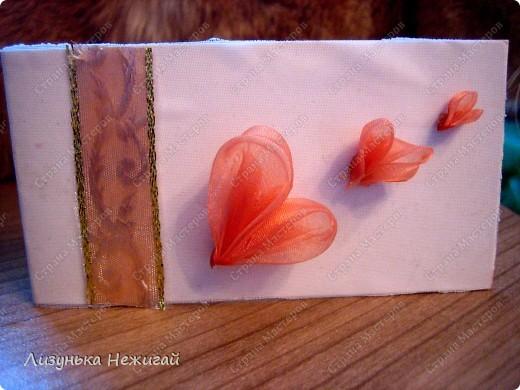 сердечки сделаны как канзаши