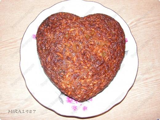 Морковный пирог с сухофруктами фото 1