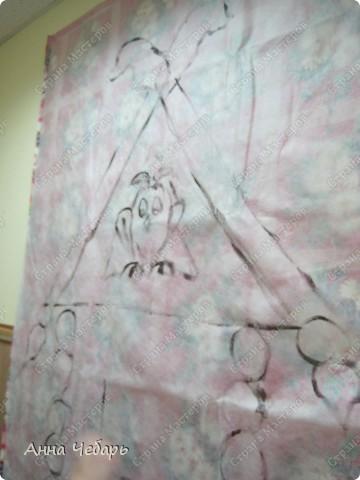 Хочу представить замечательный материал для рисования декораций - СПАНБОНД. Вообще-то это укрывной материал, но у меня дачи нет, поэтому я про него слыхом не слыхивала. Познакомились мы с ним при иных обстоятельствах.   фото 5