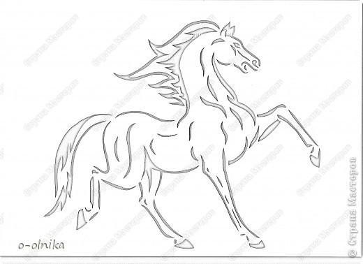 Рисунок лошади нашла на просторах интернета. Кое-что доделала, кое-как переделала. Вот что получилось. фото 6