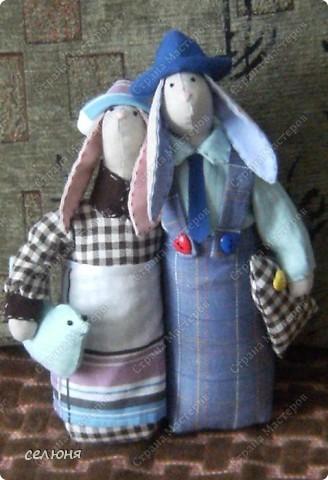 Вот таких зайцев в технике игрушек Тильд подарила вчера друзьям на 24-летие совместной жизни фото 1