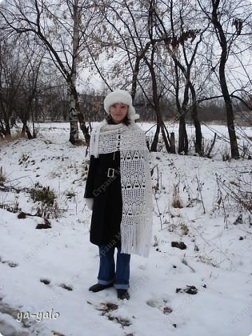 Хочу показать  вам сегодня свое любимое пончо и палантин дочери, связанные крючком фото 11