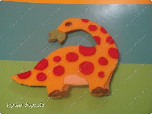 """Пройдя по окружающему миру тему """"Динозавры"""", мы с Асей сделали поделку на закрепление материала))) фото 6"""