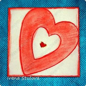 Наши с Настей валентинки. Скачала в интернете раскраску, разрезала на сердечки и дала Насте. Она увидела валентинки моих малышей и решила делать только такие. фото 25