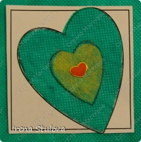 Наши с Настей валентинки. Скачала в интернете раскраску, разрезала на сердечки и дала Насте. Она увидела валентинки моих малышей и решила делать только такие. фото 8