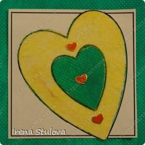 Наши с Настей валентинки. Скачала в интернете раскраску, разрезала на сердечки и дала Насте. Она увидела валентинки моих малышей и решила делать только такие. фото 12