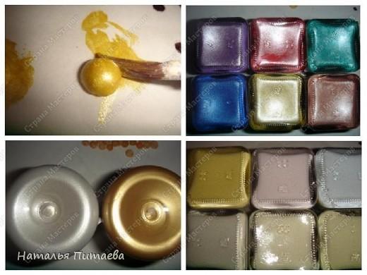 Жемчужинки для своих работ нужного цвета и размера я делаю сама, используя для этого горох.  фото 3