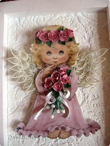 Вот такой подарок я сделала на день рождения маме. Большое спасибо за идею рамочки  Муничка http://stranamasterov.ru/node/144173 Картинку распечатала на принтере. фото 5