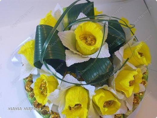 скоро 8 марта сделала букетик тюльпанов  фото 4