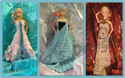 Эти три платья вязала на заказ. Заказали мне связать платья-достопримечательности: Эйфелеву башню, Статую Свободы и Биг Бен. Вот что получилось: фото 1