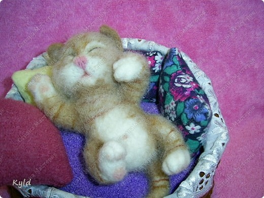 Появился у меня дома вот такой вот маленький соня))) Он все время спит, поэтому я сделала для него корзинку и тюфячок, и подушек побольше, чтобы он видел только самые мягкие и сладкие сны)) фото 4