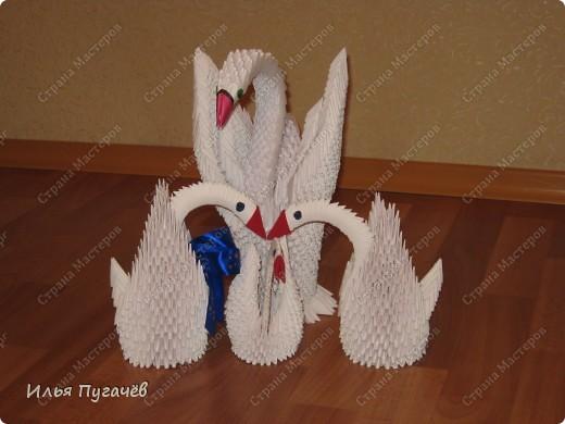 мои первые рабооты в технике модульное оригами фото 1