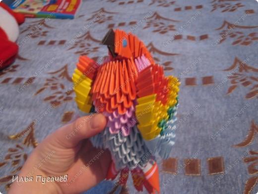 мои первые рабооты в технике модульное оригами фото 3