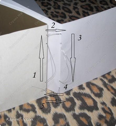 Такой переплёт книг мы делали ещё в школе.  Я постоянно делаю такие блокноты.  Кстати, бумагу можно использовать и самодельную. фото 8