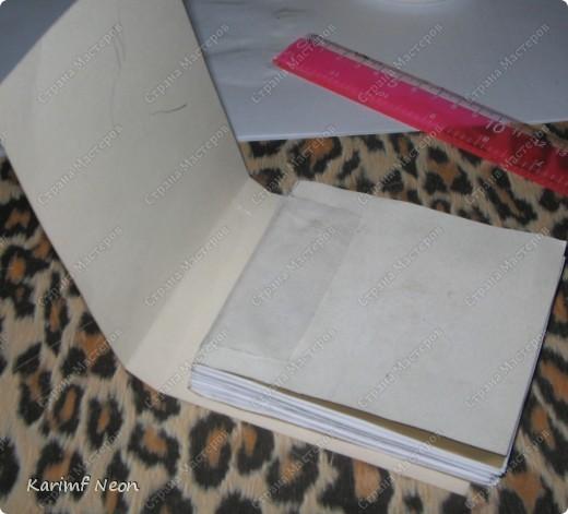 Такой переплёт книг мы делали ещё в школе.  Я постоянно делаю такие блокноты.  Кстати, бумагу можно использовать и самодельную. фото 14