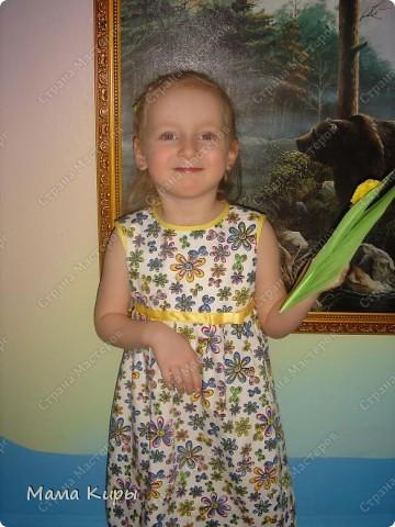 Платье дочурке на утренник к 8 марта