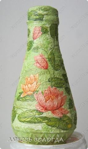Была бутылочка с кетчупом, стала вазочка с лотосами. фото 1