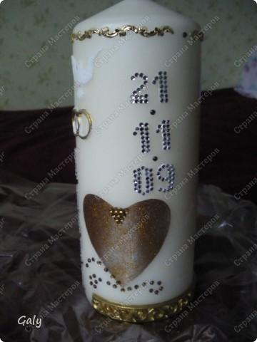 Вдохновленная прекрасными работами Irusch я решила сделать на серебрянный юбилей брату и его жене памятную свечу... фото 5