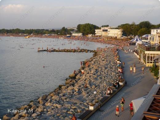 Анапа. Вид на городской пляж с набережной фото 1