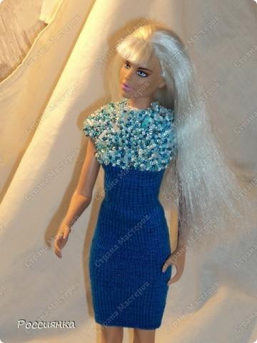 Коктейльное платье для куклы. фото 4