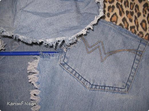 """Готовлюсь к ЛЕТУ!!!!!!    Старые джинсы жалко было выбросить.  Выкройку делал по рубашке. Только немного уменьшил выкройку и расширил ворот. Выкройку кепки делал """"на глаз"""".   фото 3"""