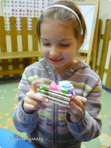 Кусочек слоёного тортика фото 6