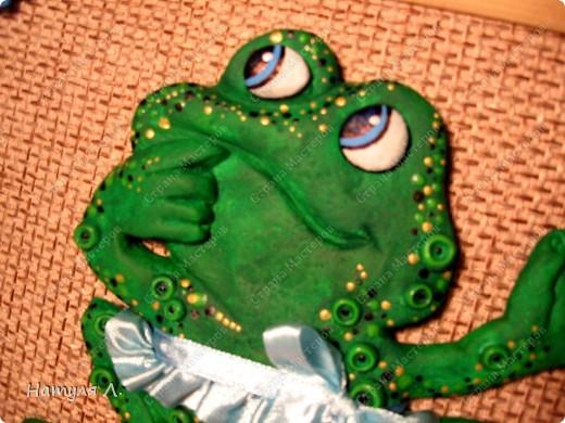 Вот такая лягушка получилась....... Попросили сделать на заказ....... Ну если со слонами и черепахами я еще как-то дружу...то лягушка оказалась не простой задачей......  да и время поджимало..... фото 3