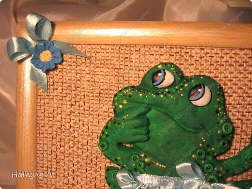 Вот такая лягушка получилась....... Попросили сделать на заказ....... Ну если со слонами и черепахами я еще как-то дружу...то лягушка оказалась не простой задачей......  да и время поджимало..... фото 4