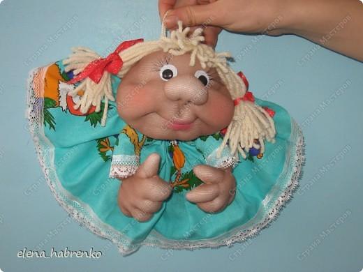 это вид спереди моей куклы. Прямо красавица  фото 1