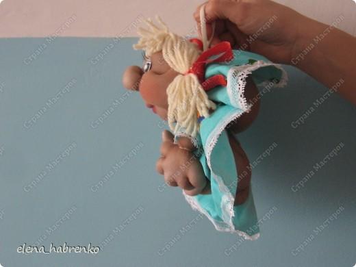 это вид спереди моей куклы. Прямо красавица  фото 2