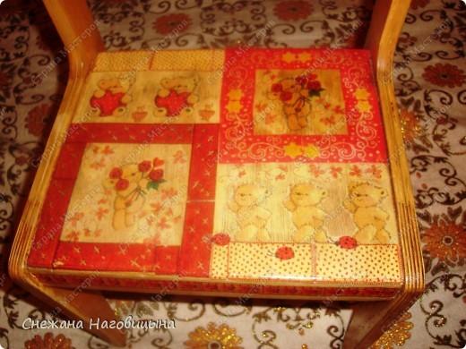 Реанимировала старые, покалеченные стульчики. фото 2