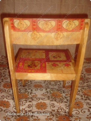 Реанимировала старые, покалеченные стульчики. фото 3
