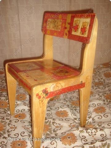 Реанимировала старые, покалеченные стульчики. фото 4