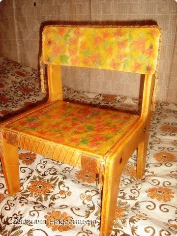 Реанимировала старые, покалеченные стульчики. фото 5