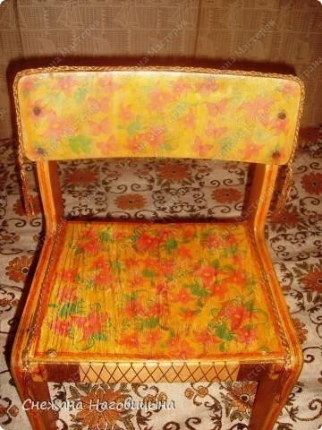 Реанимировала старые, покалеченные стульчики. фото 6