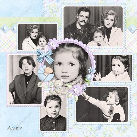 Родителям в подарок на 23 февраля и 8 марта решила сделать фотоальбом с интересными фотографиями, которые получилось найти. Сначала все пыталась сделать в формате электронного скрапбукинга, но не удержалась и кое-где добавила фотошоп-эффекты. Затем распечатала и собрала в альбом. Вот это его обложка. фото 4