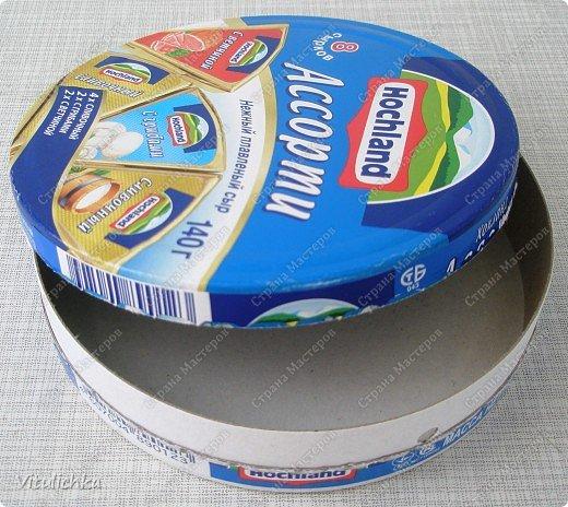 Из накопившихся коробочек от сыра хотела сделать шкатулки, но получились корзинки фото 13
