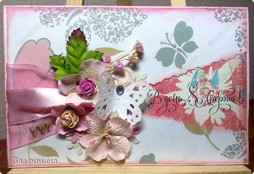 Эти 2 открытки заказала знакомая своим мамам)) Эта нежно-розовая) фото 1