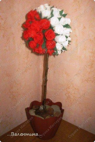 Мастер-класс Мастер-класс розы из бумажных салфеток Салфетки фото 29
