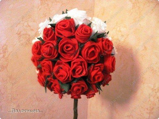 Мастер-класс Мастер-класс розы из бумажных салфеток Салфетки фото 30