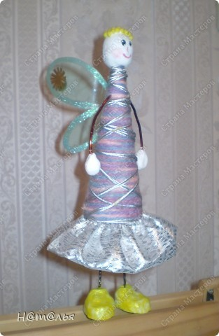 Ангелочка делали вместе с дочкой еще до нового года. Саму идею подглядели в интернете.  фото 3